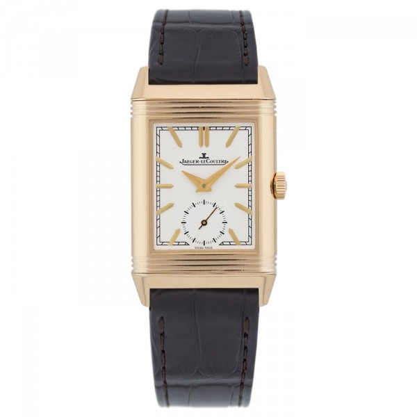 Jaeger LeCoultre Reverso Tribute Duoface Mens Hand Wound Watch Replica