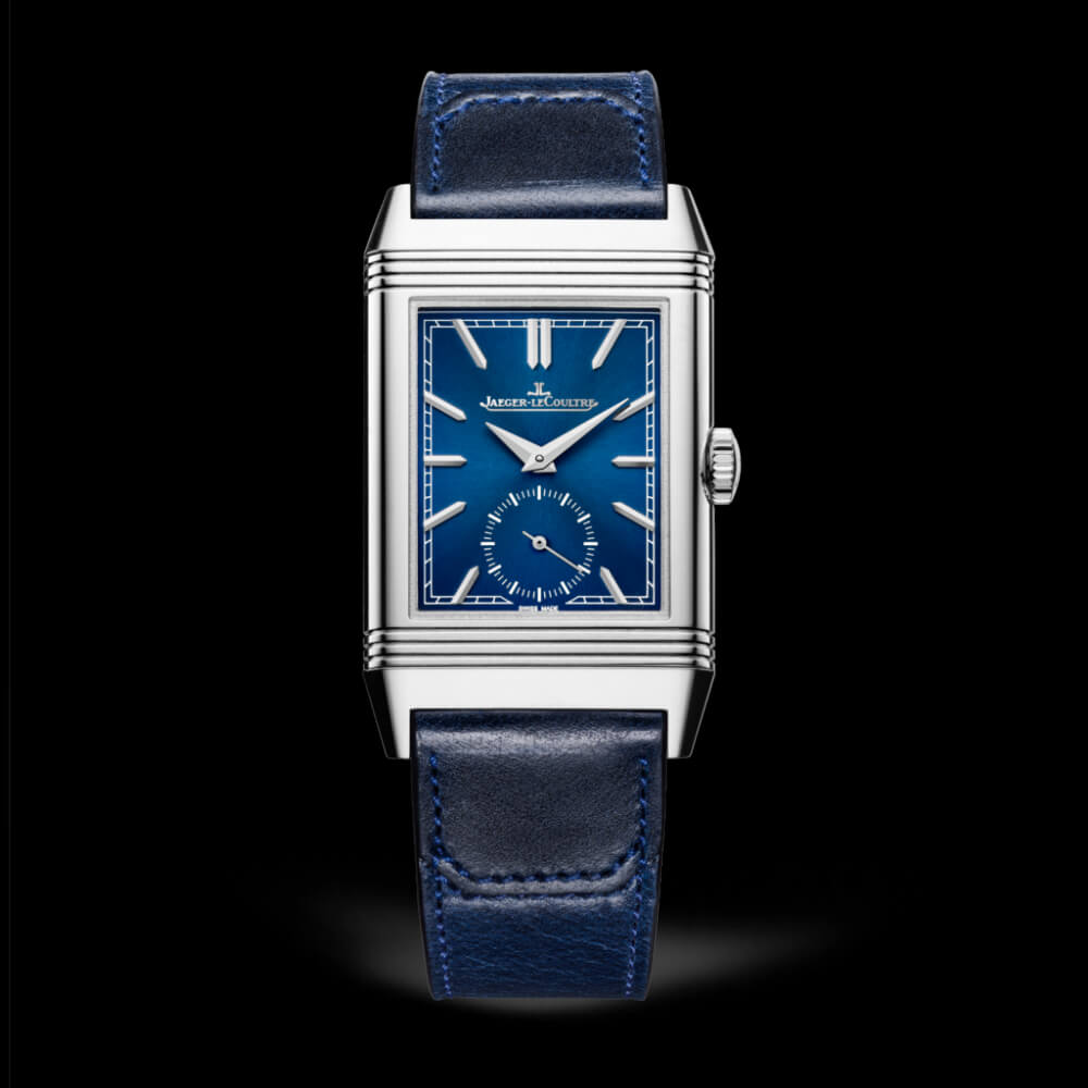 Jaeger-LeCoultre 3978480 Reverso Tribute Small Seconds Stainless Steel/Blue/Fagliano Replica