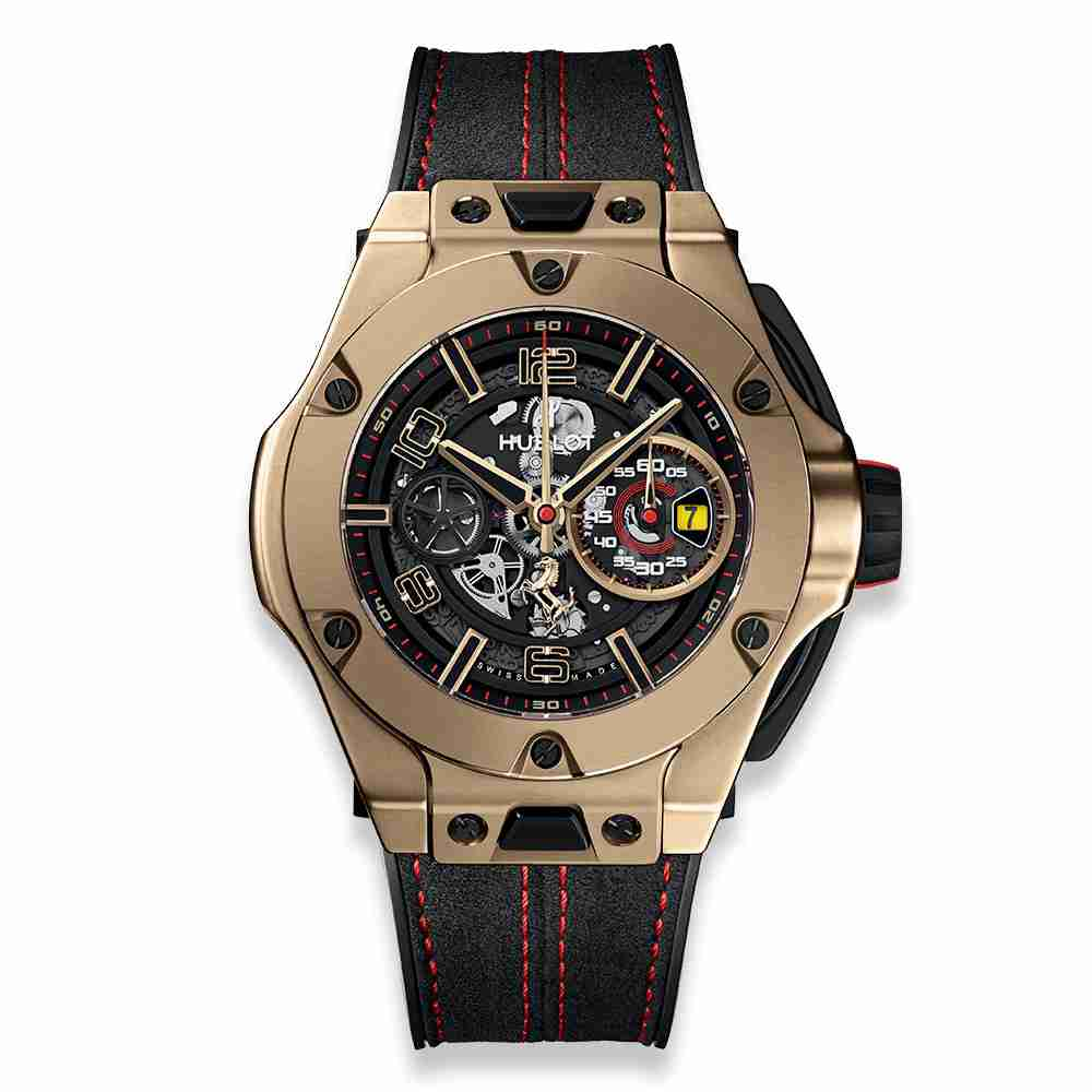 Hublot Big Bang Ferrari Chronograph Unico Magic Gold 45mm Replica