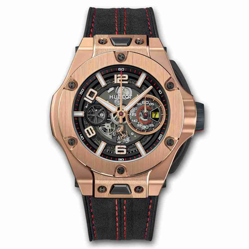 Hublot Big Bang Ferrari Chronograph Unico King Gold 45mm Replica