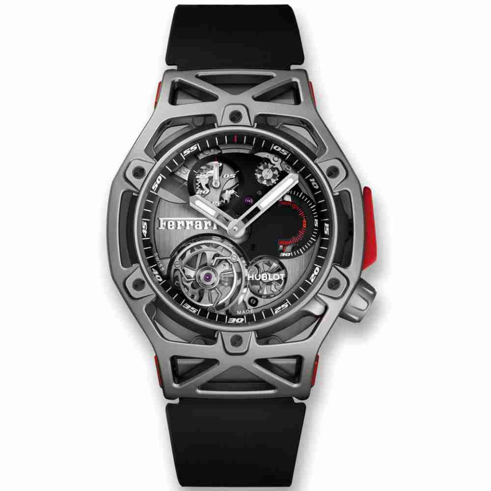 Hublot Techframe Ferrari Tourbillon Chronograph Titanium 45mm Replica