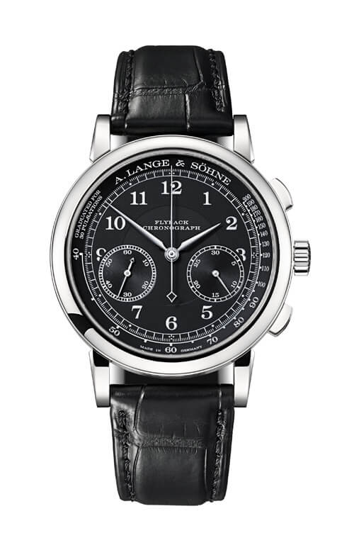 A. Lange & Sohne 414.028 1815 Chronograph White Gold/Black/Pulsometer Replica