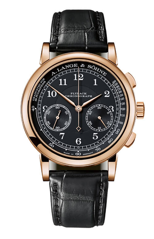 A. Lange & Sohne 414.031 1815 Chronograph Pink Gold/Black/Pulsometer Replica