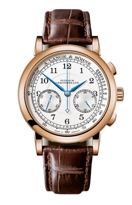 A. Lange & Sohne 414.032 1815 Chronograph Pink Gold/Black/Pulsometer Replica
