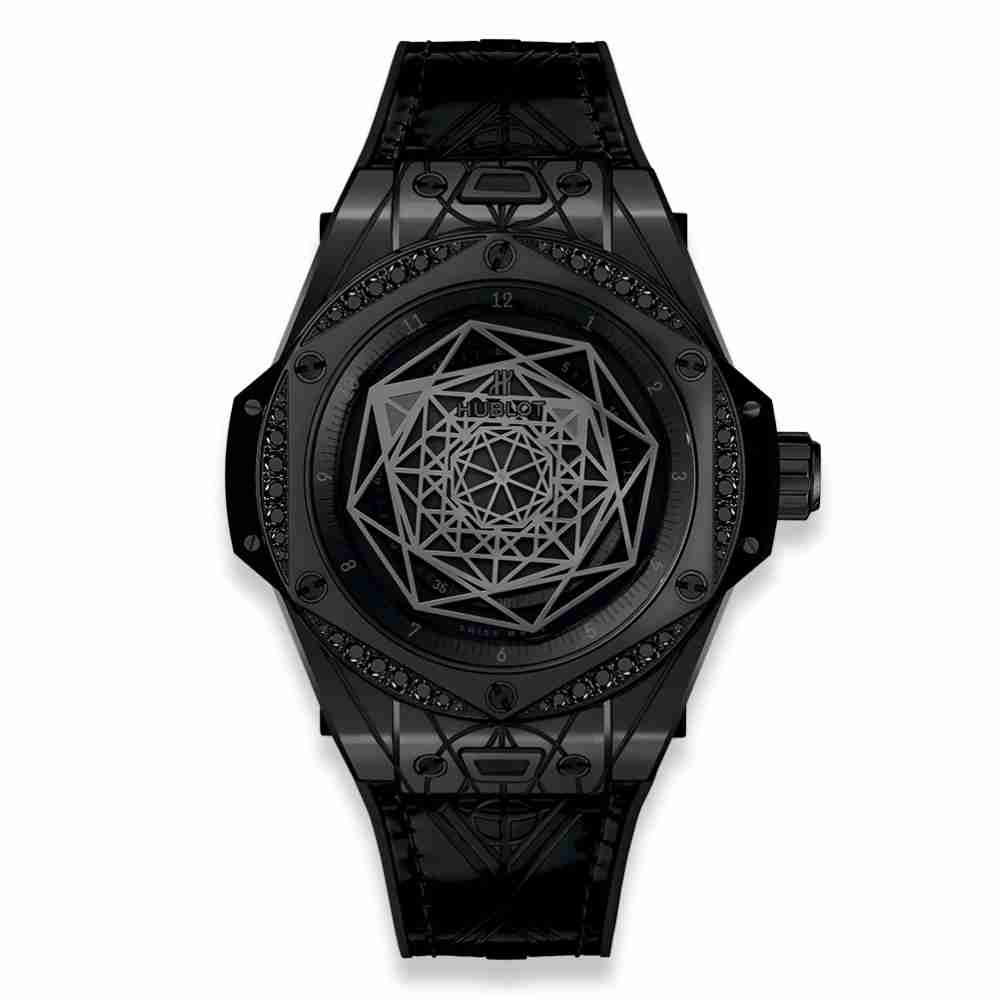 Hublot Big Bang One Click Sang Bleu All Black Diamonds 39mm Replica