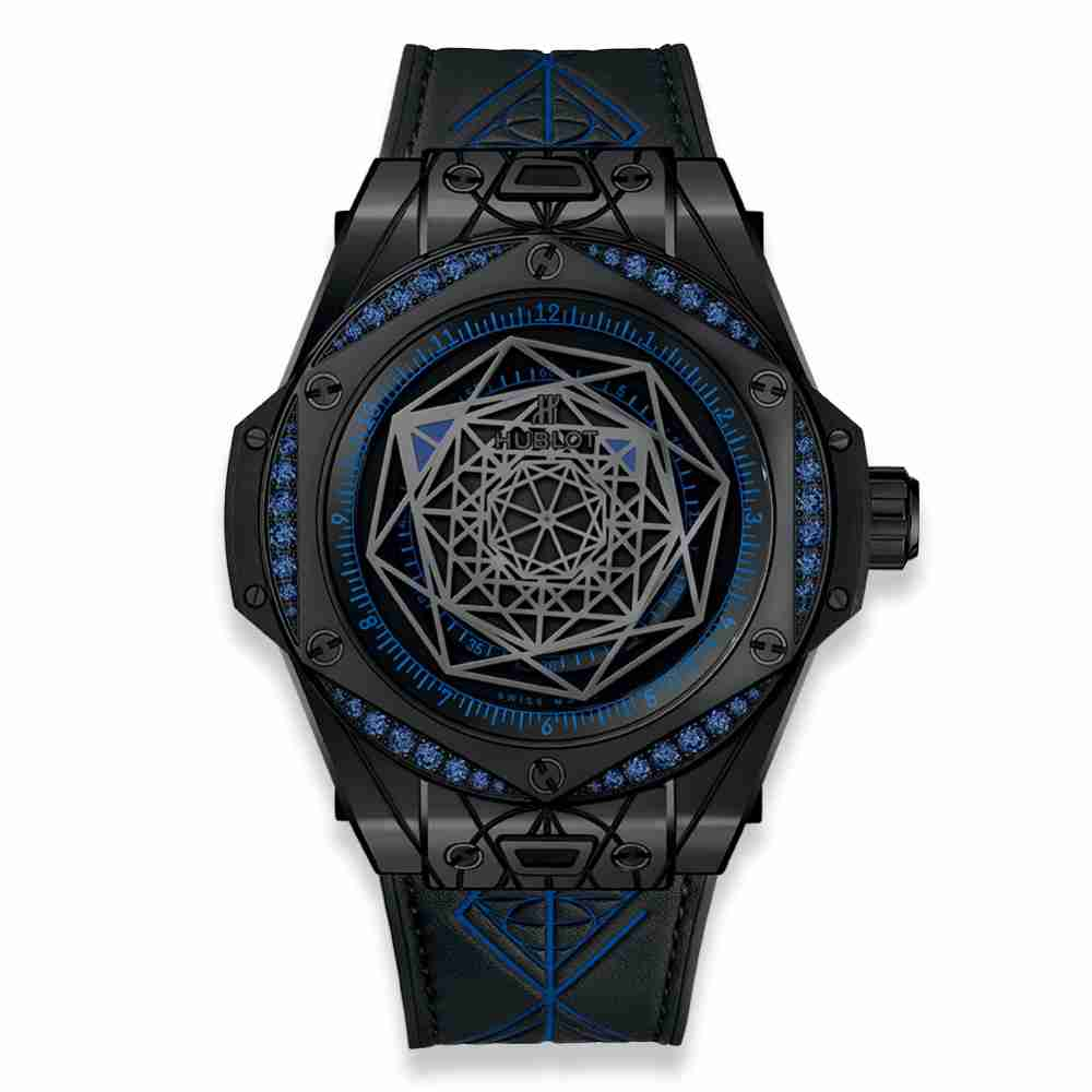Hublot Big Bang One Click Sang Bleu All Black Blue 39mm Replica