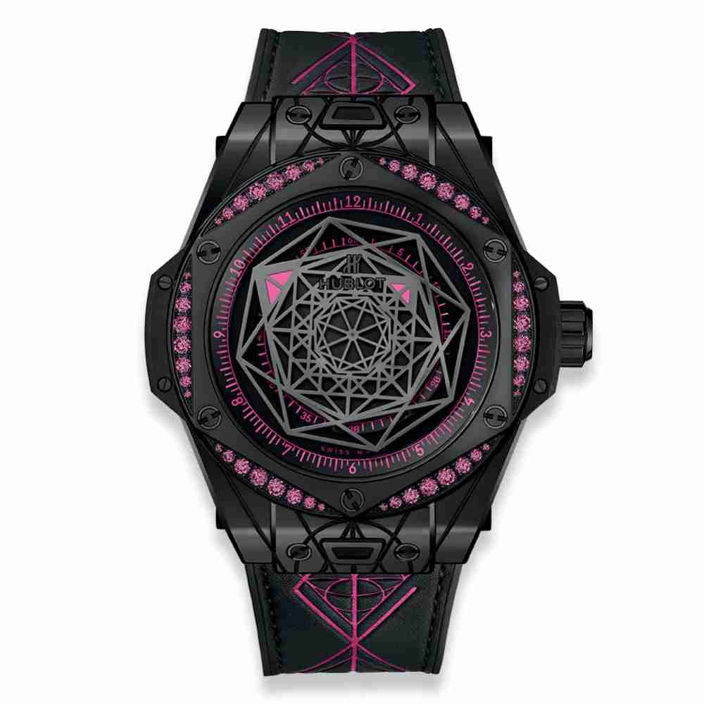 Hublot Big Bang One Click Sang Bleu All Black Pink 39mm Replica