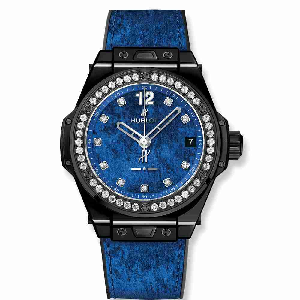 Hublot Big Bang One Click Italia Independent Blue Velvet 39mm Replica