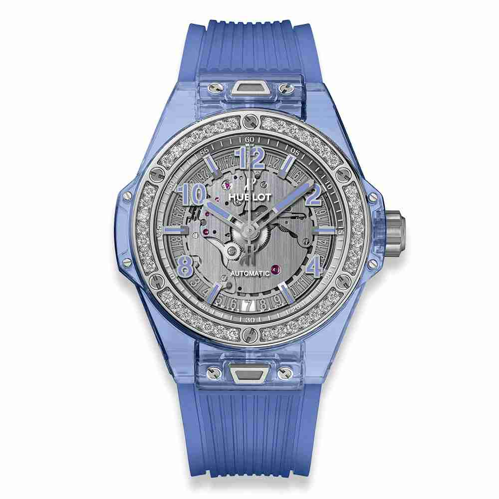 Hublot Big Bang One Click Blue Sapphire Diamonds 39mm Replica