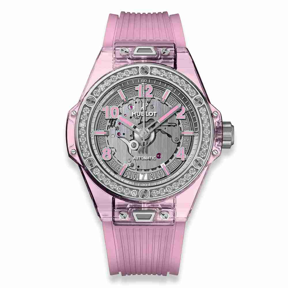 Hublot Big Bang One Click Pink Sapphire Diamonds 39mm Replica
