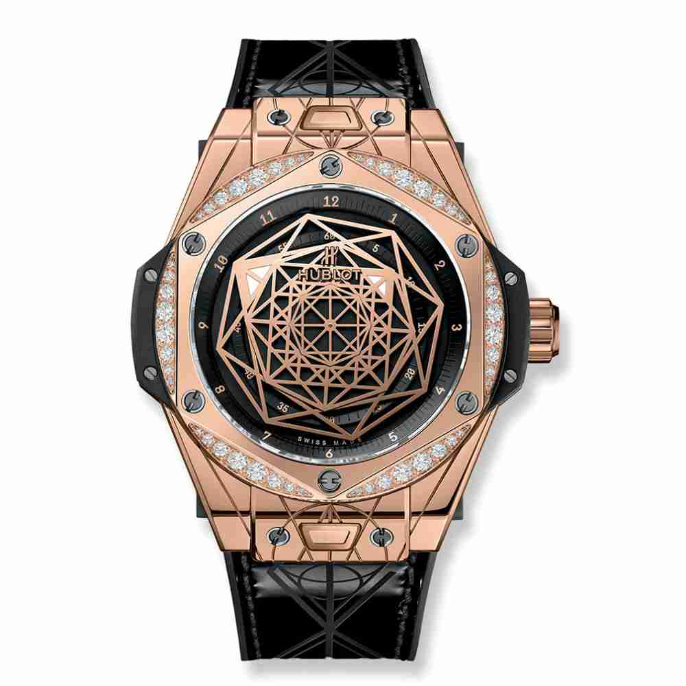 Hublot Big Bang Sang Bleu King Gold Diamonds 39mm Replica