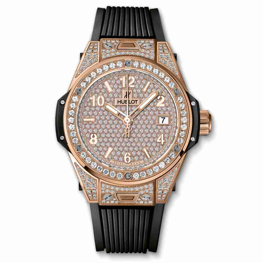 Hublot Big Bang One Click King Gold Full Pav&eacute 39mm Replica
