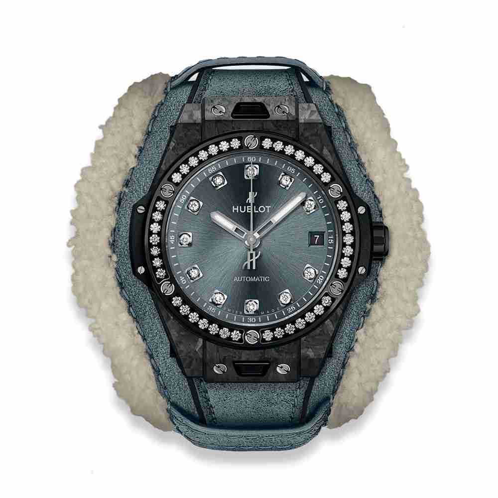 Hublot Big Bang One Click Frosted Carbon Diamonds 39mm Replica