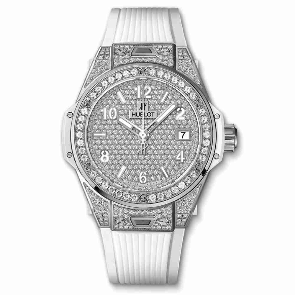 Hublot Big Bang One Click Steel White Full Pavé 39mm Replica