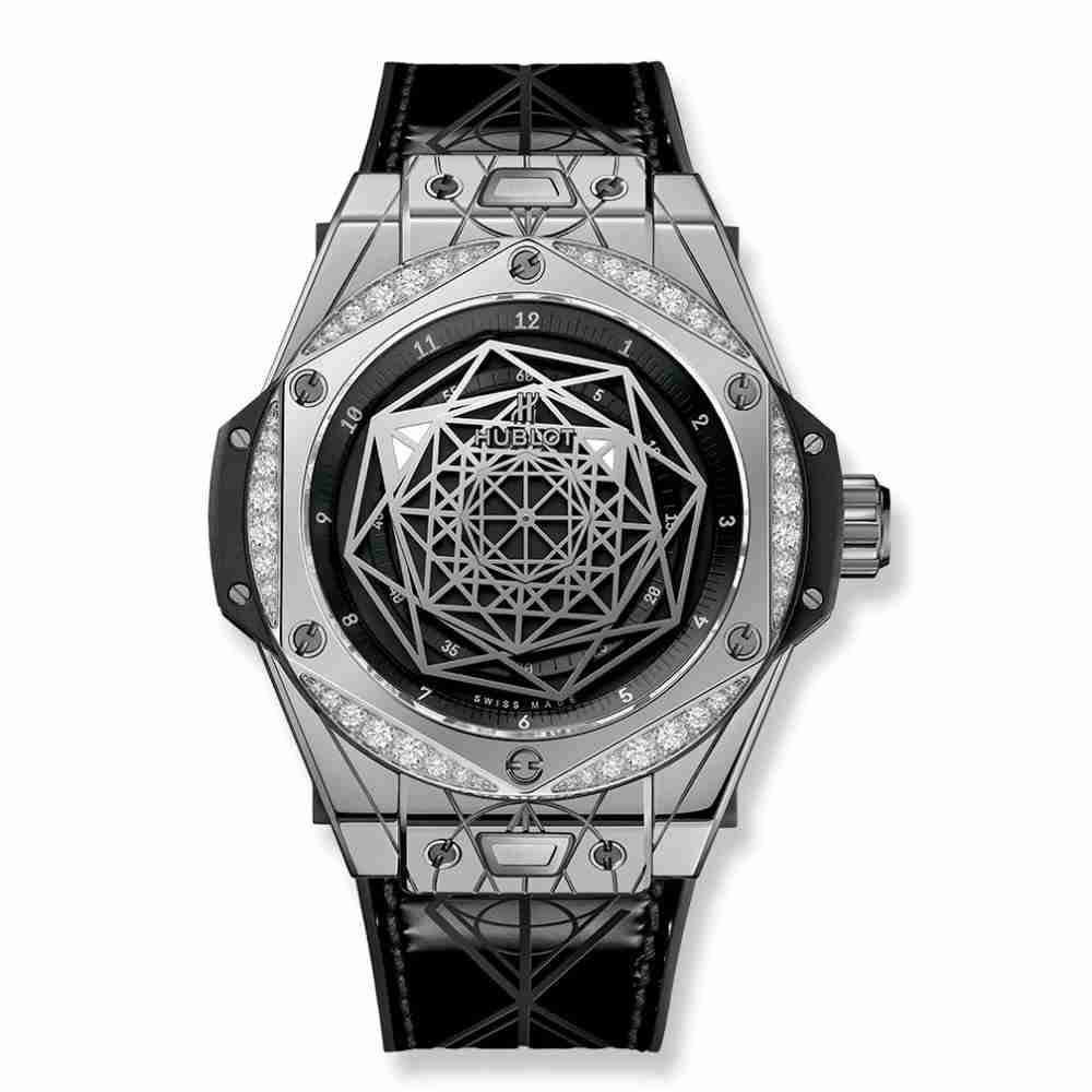Hublot Big Bang Sang Bleu Steel Diamonds 39mm Replica