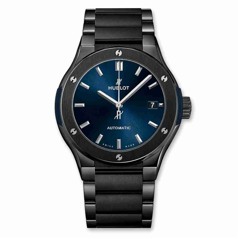 Hublot Classic Fusion Ceramic Blue Bracelet 45mm Replica