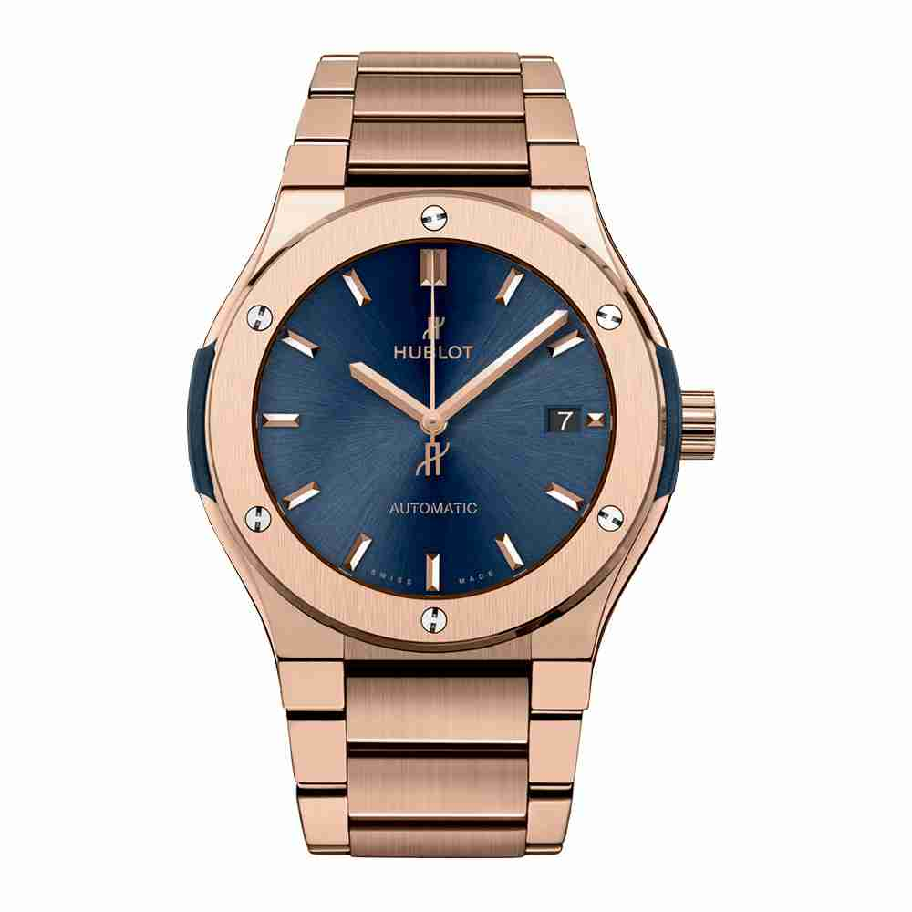 Hublot Classic Fusion Blue King Gold Bracelet 45mm Replica