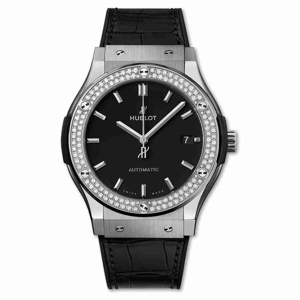 Hublot Titanium Diamonds 45mm Classic Fusion automatic watches Replica