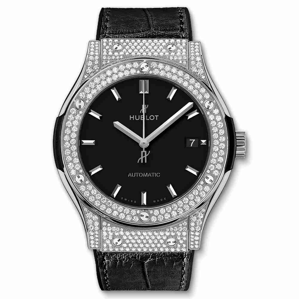 Hublot Titanium Pavé 45mm Classic Fusion Diamond watches Replica