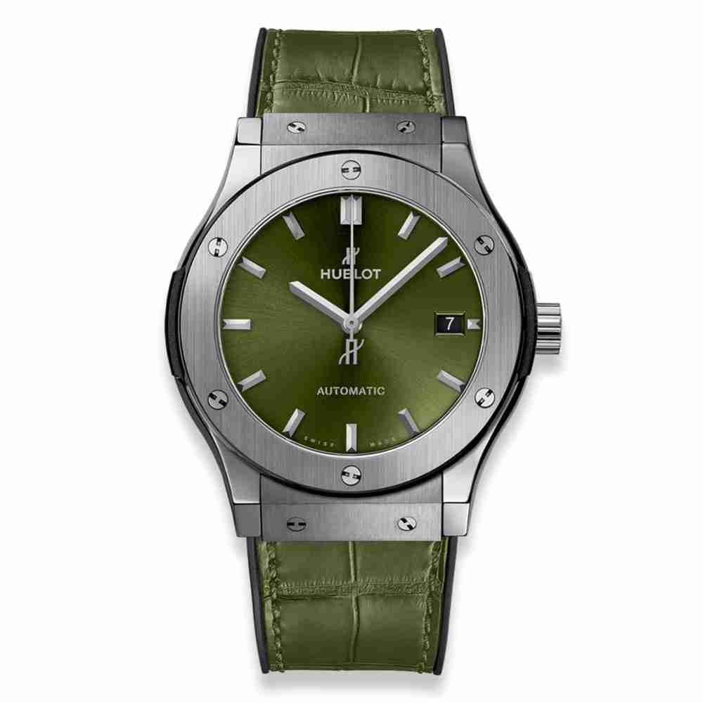 Hublot Classic Fusion Green Titanium 45mm Replica