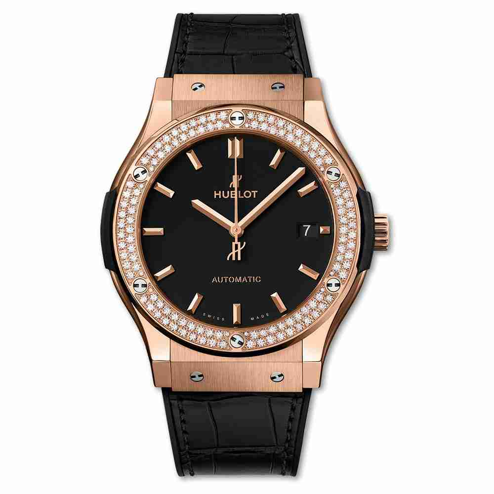 Hublot King Gold Diamonds 45mm Classic Fusion automatic watches Replica