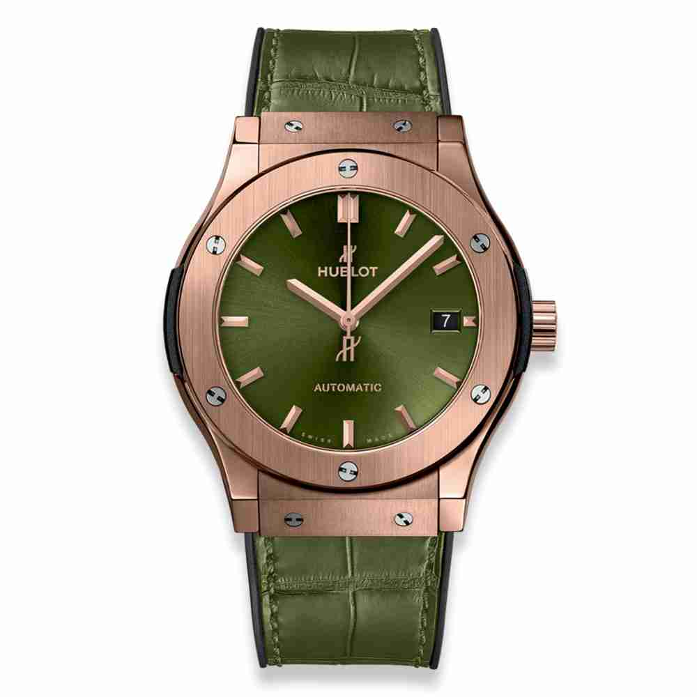 Hublot Classic Fusion Green King Gold 45mm Replica