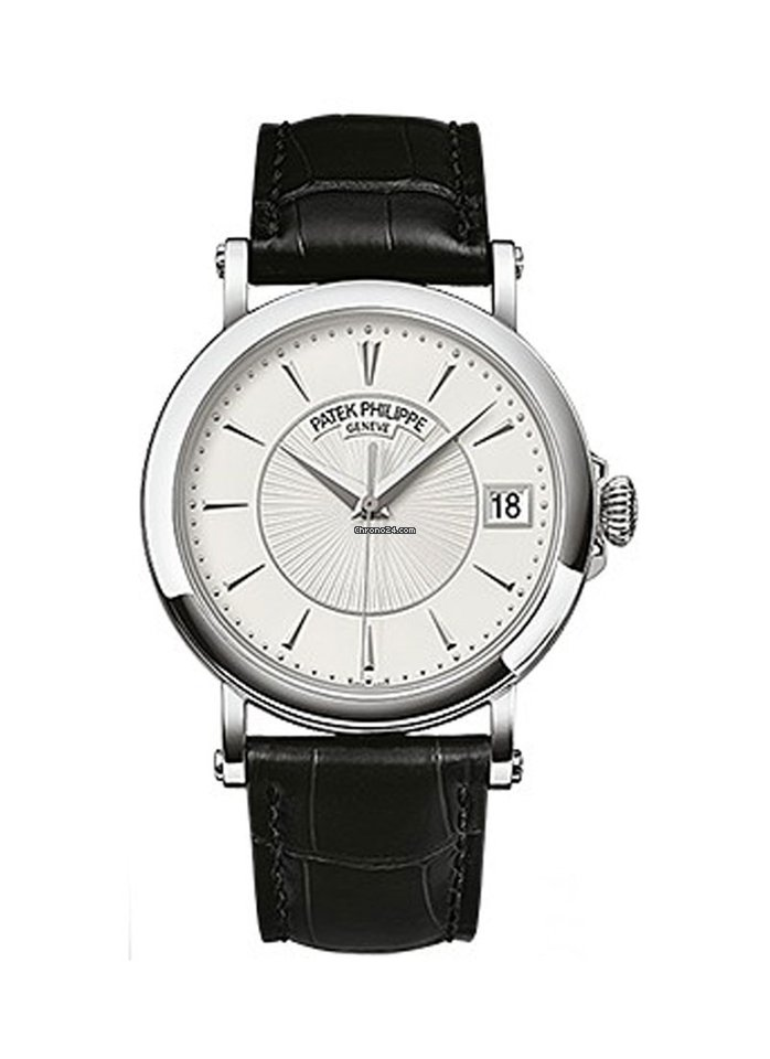 Patek Philippe Calatrava Automatic White Dial Black Leather 5153G-010