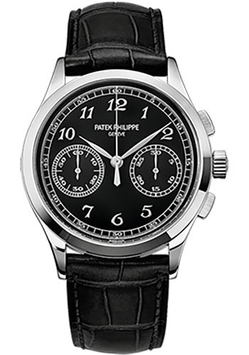 Patek Philippe Complications Black Dial 18K White Gold 5170G-010