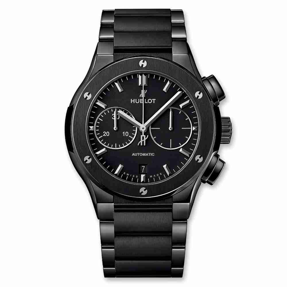 Hublot Classic Fusion Chronograph Black Magic Bracelet 45mm Replica
