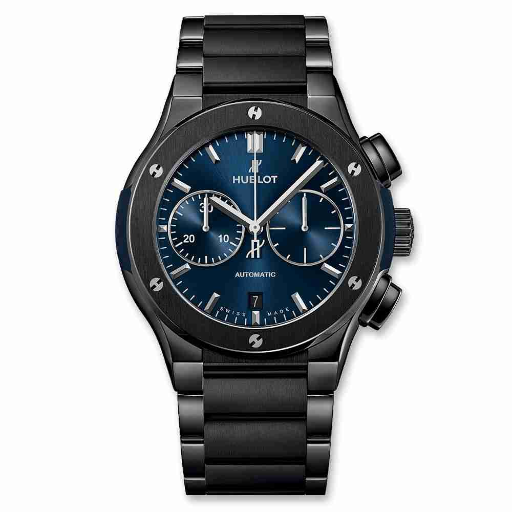 Hublot Classic Fusion Chronograph Ceramic Blue Bracelet 45mm Replica