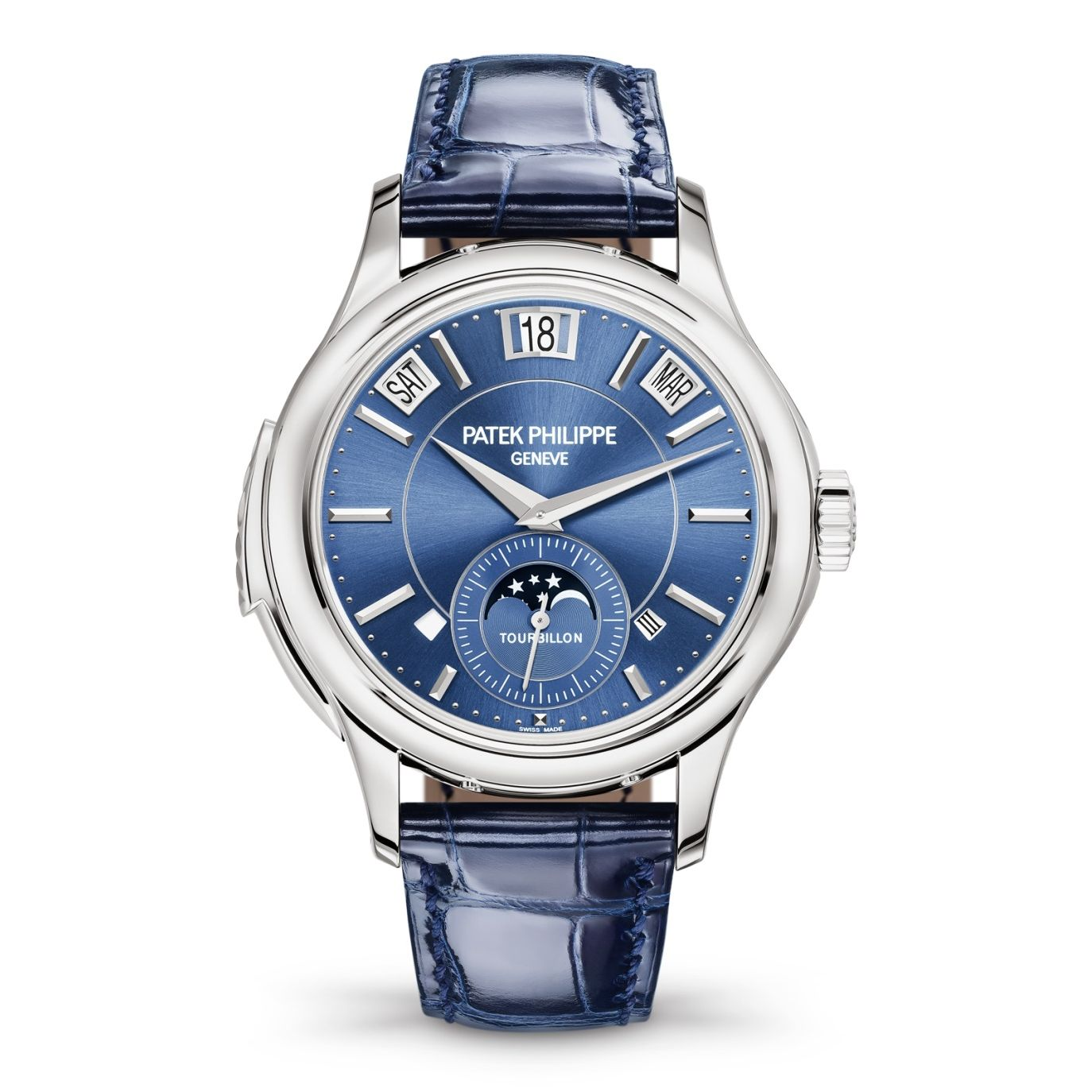Patek Philippe Tourbillon Minute Repeater Perpetual Calendar hite Gold / Blue 5207G-001