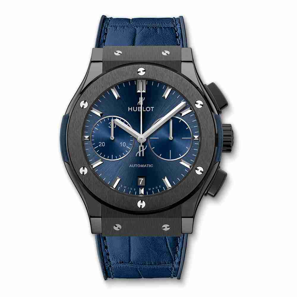 Hublot Classic Fusion Ceramic Blue Chronograph 45mm Replica