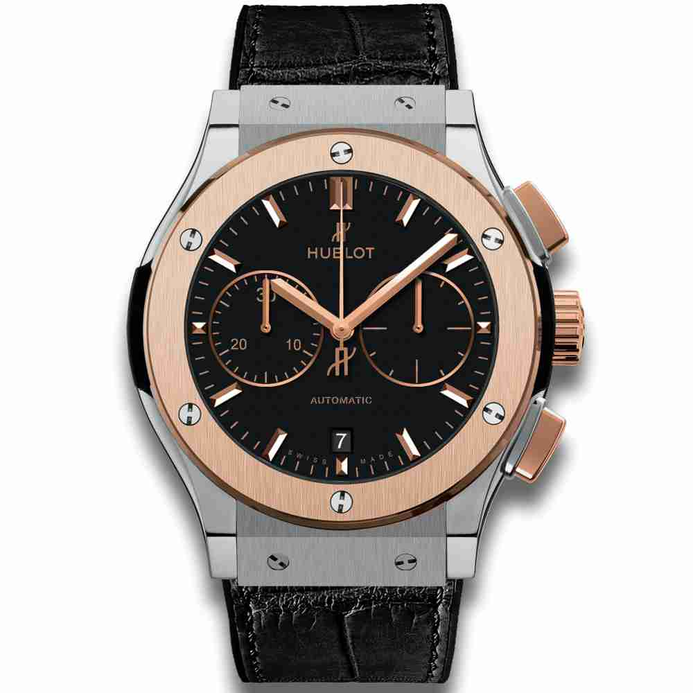 Hublot Chronograph Titanium King Gold Classic Fusion watches Replica