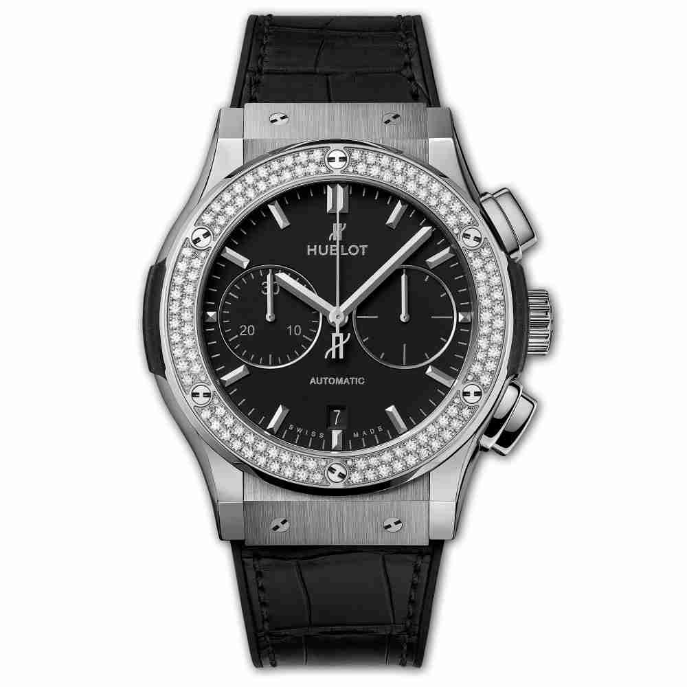 Hublot Chronograph Titanium Diamonds 45mm Classic Fusion watches Replica