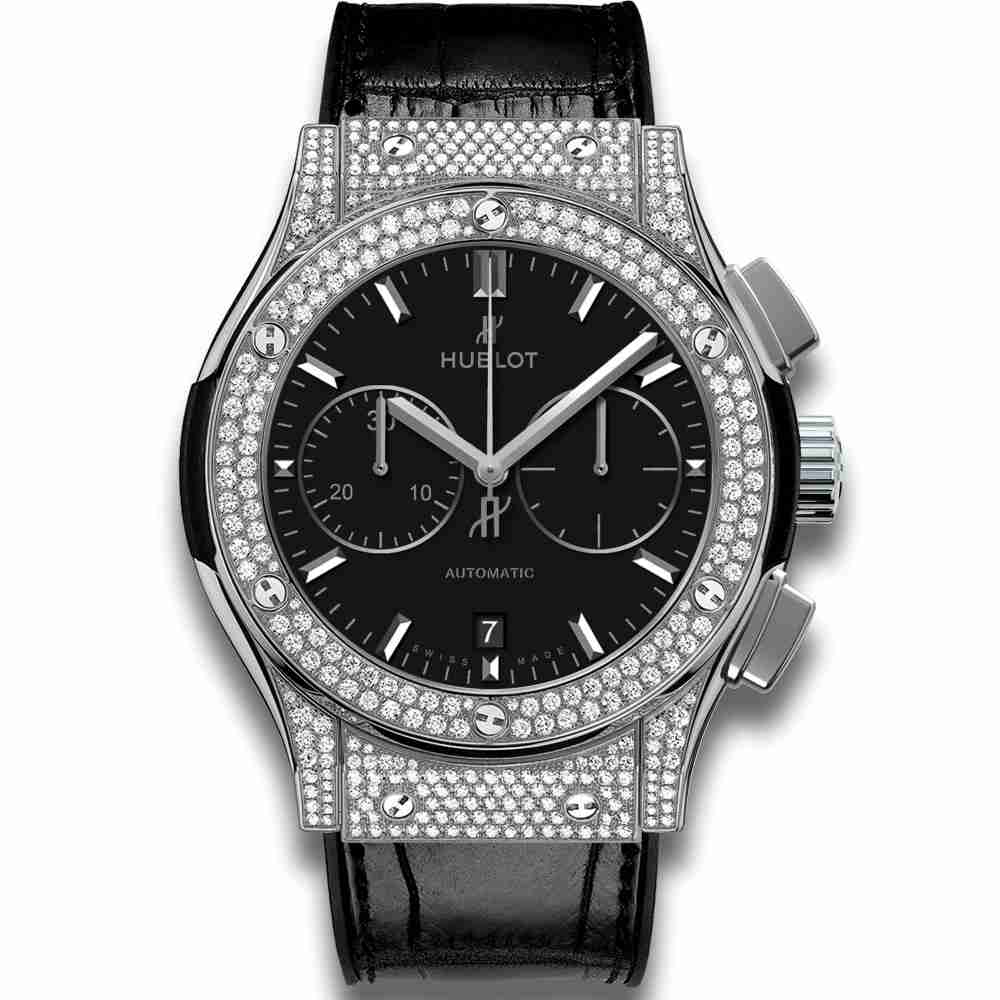 Hublot Chronograph Titanium Pavé 45mm Classic Fusion Diamond watches Replica