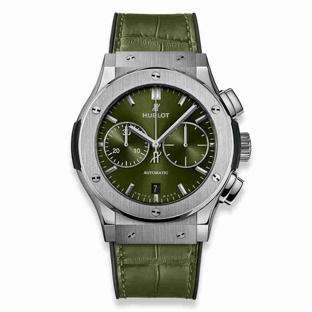 Hublot Classic Fusion Chronograph Titanium Green 45mm Replica