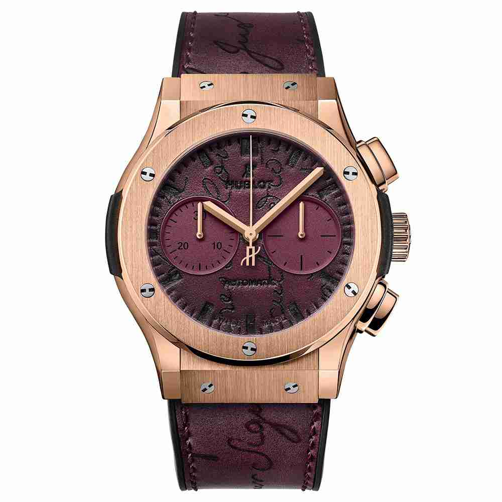 Hublot Classic Fusion Chronograph Berluti Scritto Bordeaux 45mm Replica