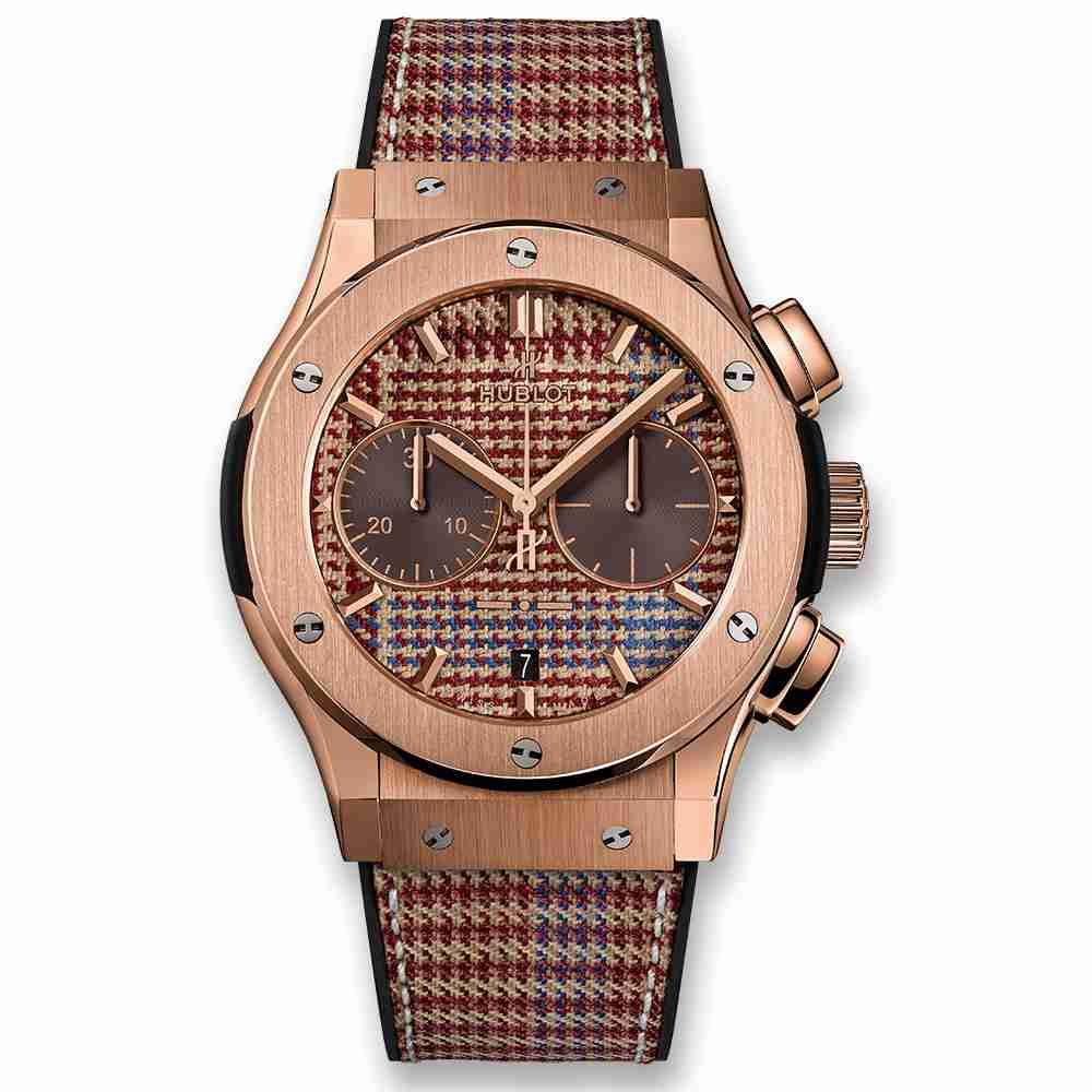 Hublot Classic Fusion Chronograph Italia Independent Prince-De-Galles King Gold 45mm Replica