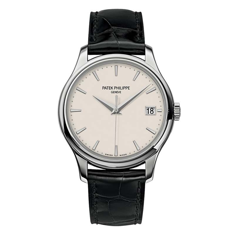 Patek Philippe Calatrava Mechanical Ivory Dial Leather 5227G-001