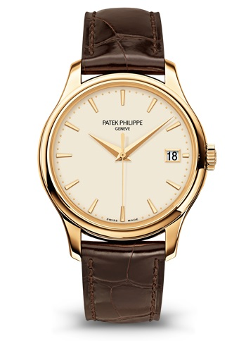 Patek Philippe Calatrava Ivory Dial 18kt Yellow Gold Brown Leather -001 5227J-001