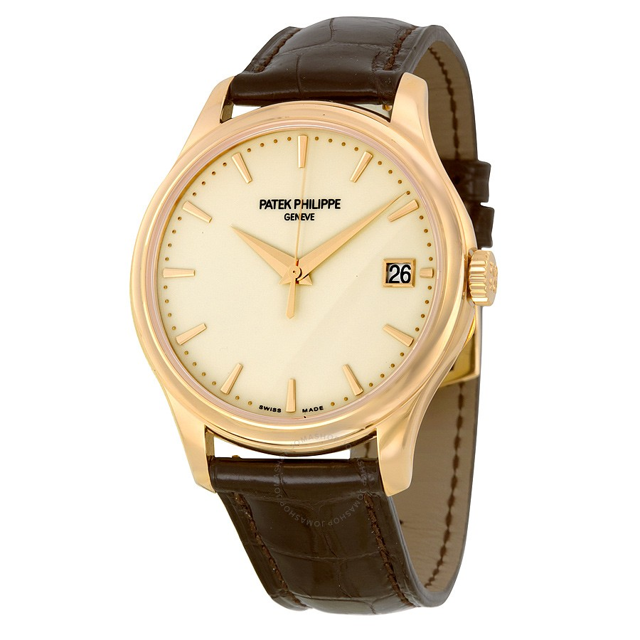 Patek Philippe Calatrava Mechanical Ivory Dial Leather -001 5227R-001