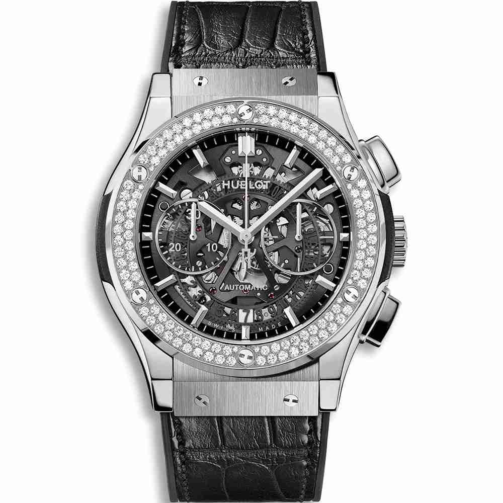 Hublot Classic Fusion Aerofusion Titanium Diamonds 45mm Replica