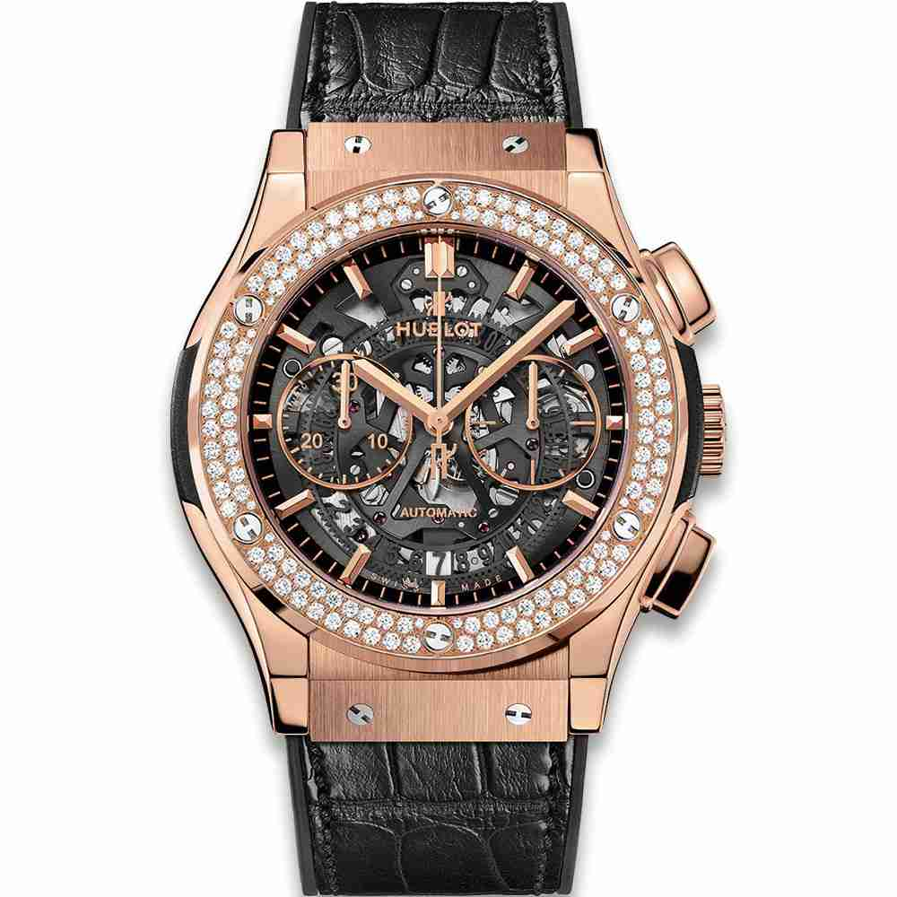 Hublot Classic Fusion Aerofusion King Gold Diamonds 45mm Replica