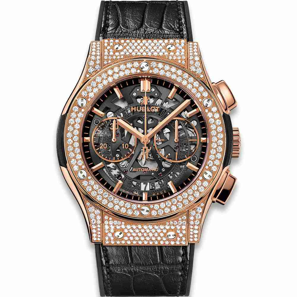 Hublot Classic Fusion Aerofusion King Gold Pav&eacute 45mm Replica