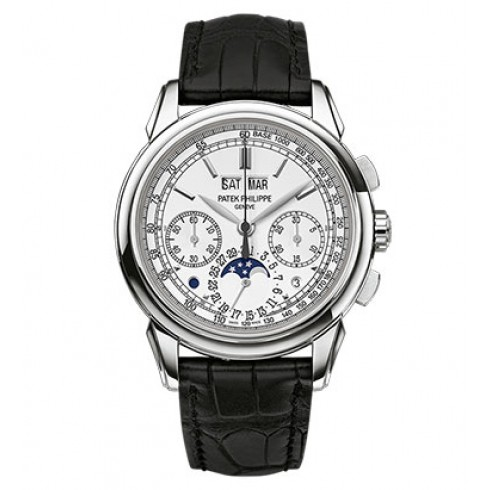 Patek Philippe Grand Complications Silver Dial Chronograph 18K White Gold 5270G-018