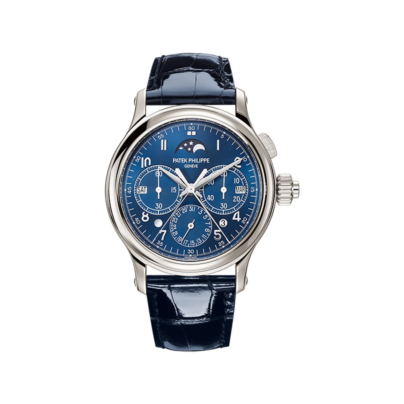 Patek Philippe Perpetual Calendar Split-Seconds Chronograph 5372 Platinum / Blue 5372P-001