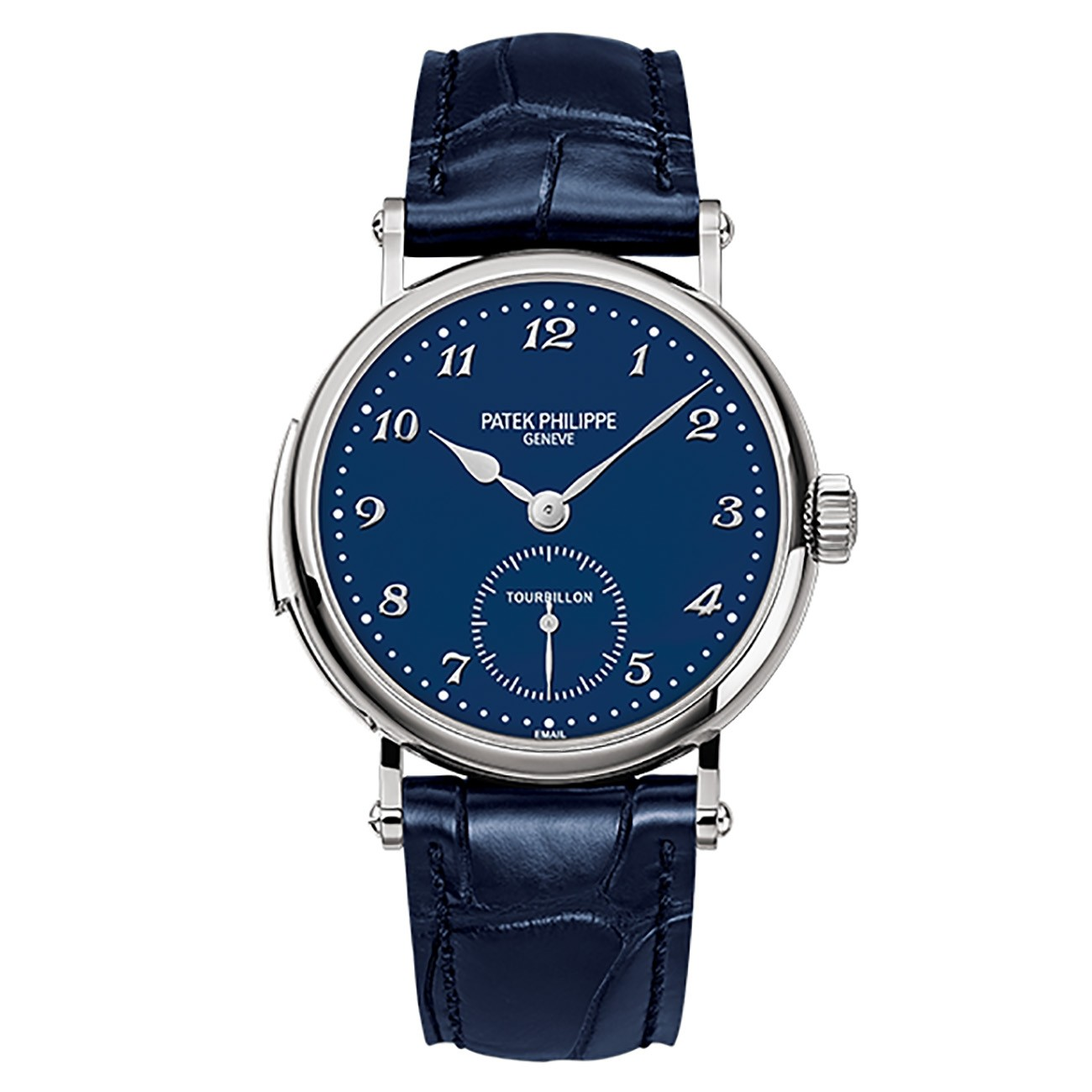 Patek Philippe Grand Complications 37mm Blue Enamel Arabic White Gold Leather BRAND NEW 5539G-010
