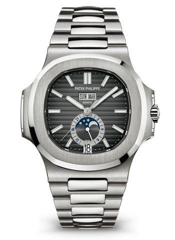 Patek Philippe Nautilus Mechanical Black Dial Steel 5726/1A-001