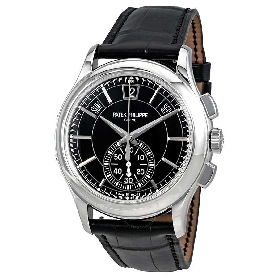Patek Philippe Complications Black Dial Annual Calendar Platinum 5905P-010