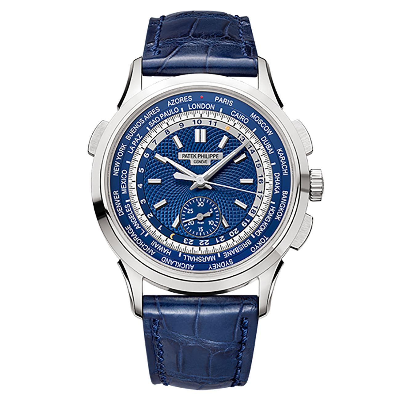 Patek Philippe Complications Blue Dial Automatic 18K White Gold 5930G-001